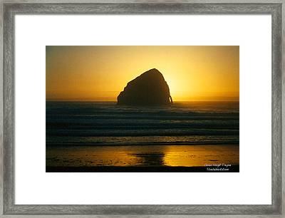 Pacific City Sunset Framed Print