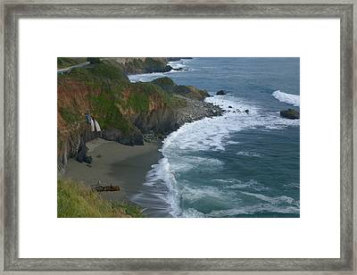 Pacific Coast California Highway 1 Seascape Framed Print by Gregory Scott