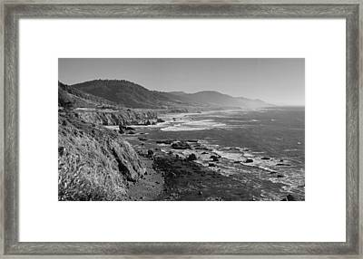 Pacific Coast Highway Coast Framed Print by Twenty Two North Photography