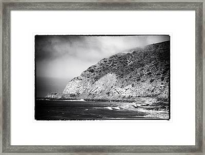 Pacific Coast Highway View Framed Print by John Rizzuto