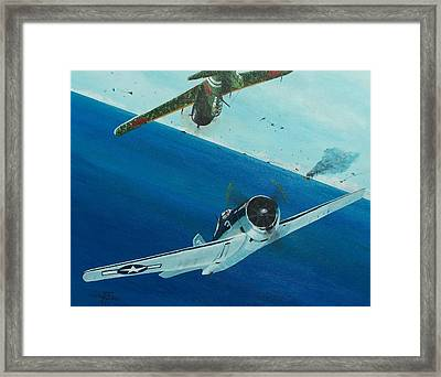 Pacific Duel Framed Print by Gene Ritchhart