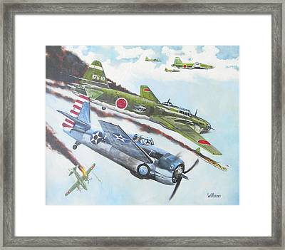 Pacific Encounter Framed Print