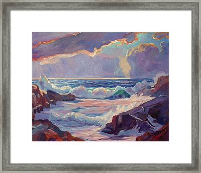 Pacific Grove Winds Framed Print by David Lloyd Glover