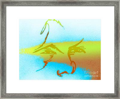 Pacific Northwest Global Warming Face Framed Print by Robert Haigh