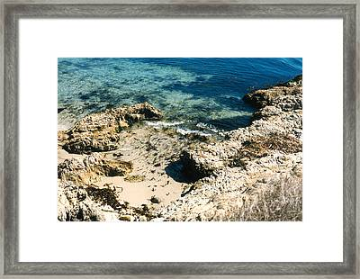 Framed Print featuring the photograph Pacific Ocean At Monterey One by Louis Nugent