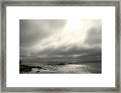 Pacific Ocean At Point Lobos California Framed Print by Suzanne Lorenz