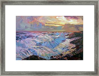 Pacific Ocean Blue Framed Print
