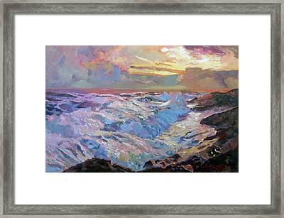 Pacific Ocean Blue Framed Print by David Lloyd Glover
