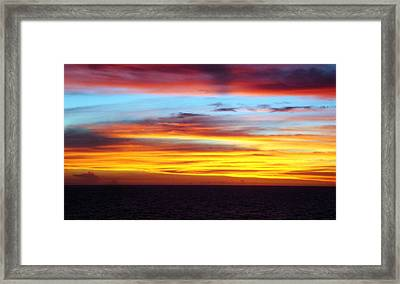 Pacific Sunset 5 Framed Print by Laura Porumb