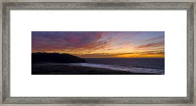 Pacific Sunset At Point Sur Framed Print by Steven Wynn