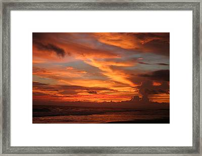 Pacific Sunset Costa Rica Framed Print by Michelle Wiarda