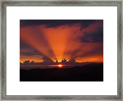 Pacific Sunset Framed Print by Gregory Young