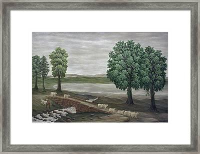 Pack Horse Bridge - Lake District Framed Print by Ronald Haber
