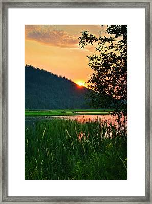 Framed Print featuring the photograph Pack River Delta Sunset 2 by Albert Seger