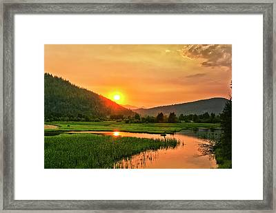 Framed Print featuring the photograph Pack River Delta Sunset by Albert Seger