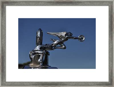 Packard Angel Hood Ornament Framed Print by Bill Cannon