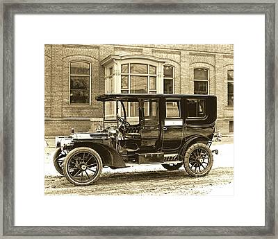 Packard Motor Car Company Automobile 1910 Framed Print by Padre Art