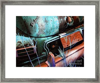 Packard On Ice Framed Print