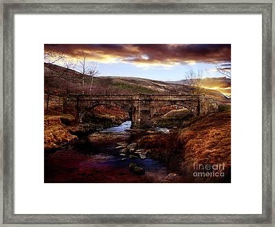 Packhorse Bridge Framed Print by Nigel Hatton