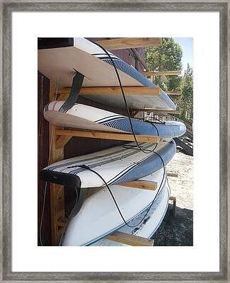 Paddle Boards Framed Print by Carol Duarte