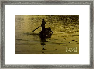 Framed Print featuring the photograph Paddle Boy by Lydia Holly