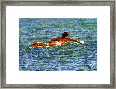 Paddle Out Framed Print by Paul Topp
