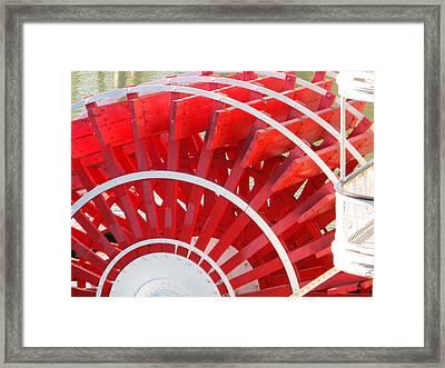 Paddle Wheel Framed Print by Barry Jones