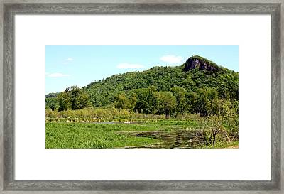 Kayaking Under The Bluffs Framed Print