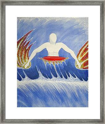 Framed Print featuring the painting Paddling by Paul Amaranto