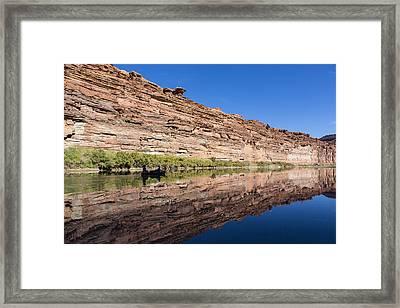 Paddling The Green River Framed Print by Tim Grams