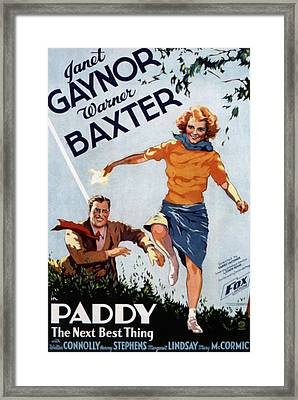 Paddy, The Next Best Thing, Warner Framed Print by Everett