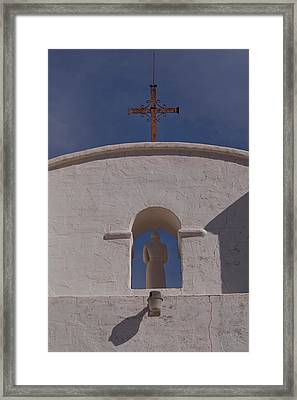 Framed Print featuring the photograph Padre In Tower by Tom Singleton