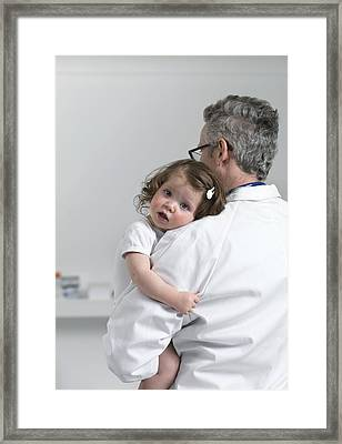 Paediatric Examination Framed Print by Tek Image