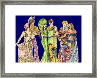Pageant Couples Framed Print by Mel Thompson