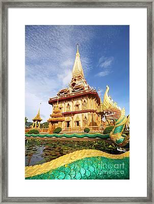 Pagoda In Wat Chalong Phuket  Framed Print by Anusorn Phuengprasert nachol