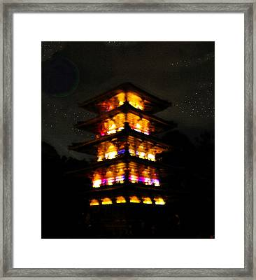 Pagoda Night Framed Print