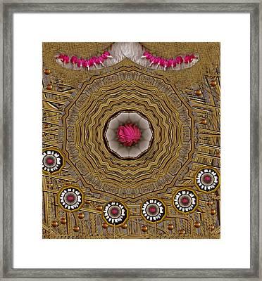 Pagoda Of Lotus Pop Art Framed Print by Pepita Selles
