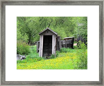 Pail Closet Virginia City Framed Print by Thomas Woolworth