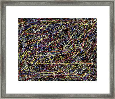 Pain  Abstract  Expressionism Framed Print by Carl Deaville