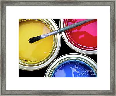 Paint Cans Framed Print by Carlos Caetano