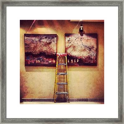 #paint #colors #ladder #wall #jordan Framed Print by Abdelrahman Alawwad