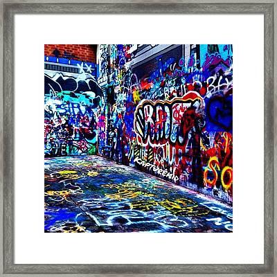 🎨paint🎨 #graffiti #paint #art Framed Print