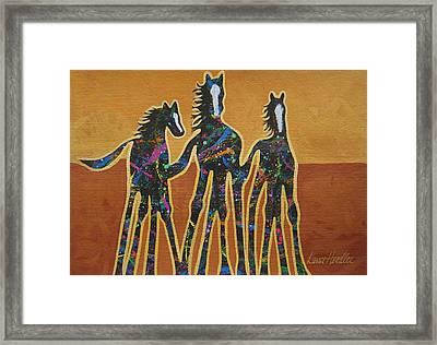 Paint My Ponies Framed Print