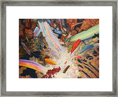 Paint Number 39 Framed Print by James W Johnson