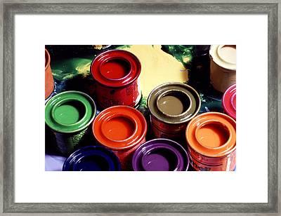 Paint Pots Framed Print