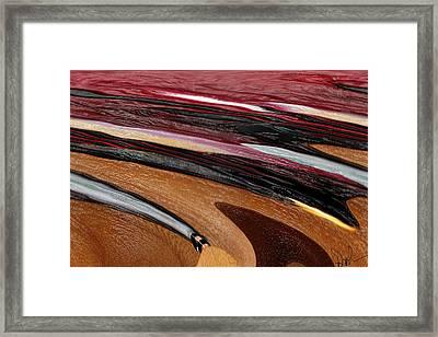 Paint Strokes Framed Print