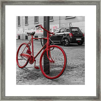 Paint The Town Red Framed Print