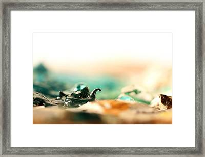 Paint Wave Crashing Framed Print by Adam Long