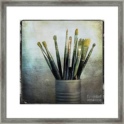 Paintbrushs Framed Print by Bernard Jaubert