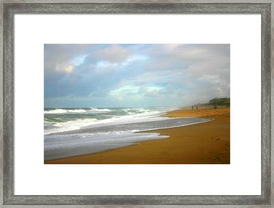 Painted Beach Framed Print by Cindy Haggerty